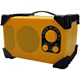 WINTECH 防滴防塵現場ラジオ(FMワイドバンド対応) イエロー GBR-3C