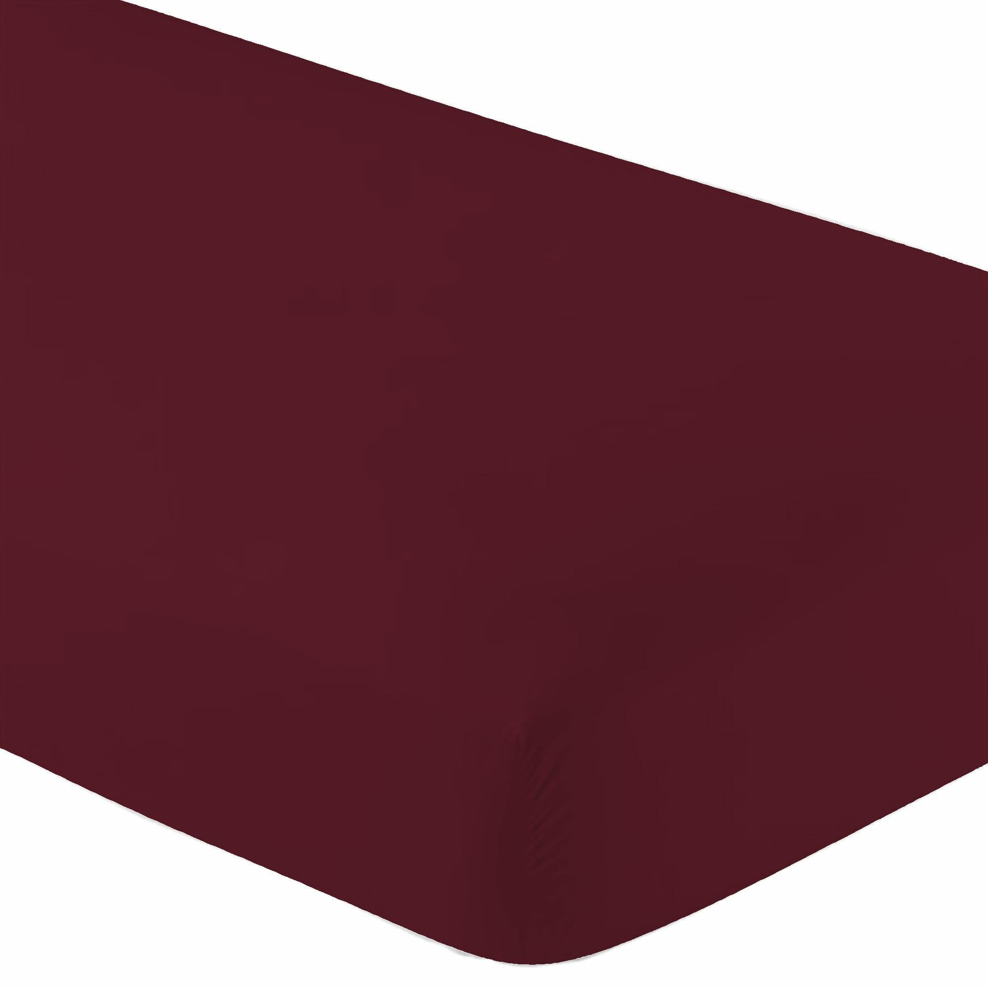 Crescent Bedding Twin Burgundy Fitted Sheet Only - Soft & Comfy 100% Cotton (Twin, Burgundy) by Crescent Bedding