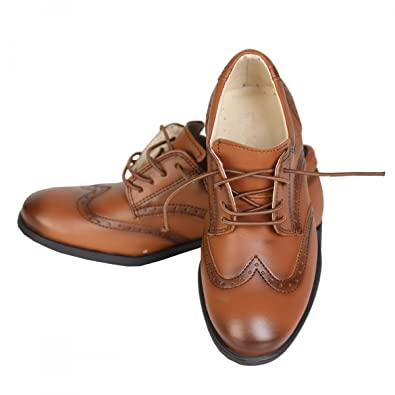 99ff19b36efb43 Boys Patent Formal Brogue Shoes