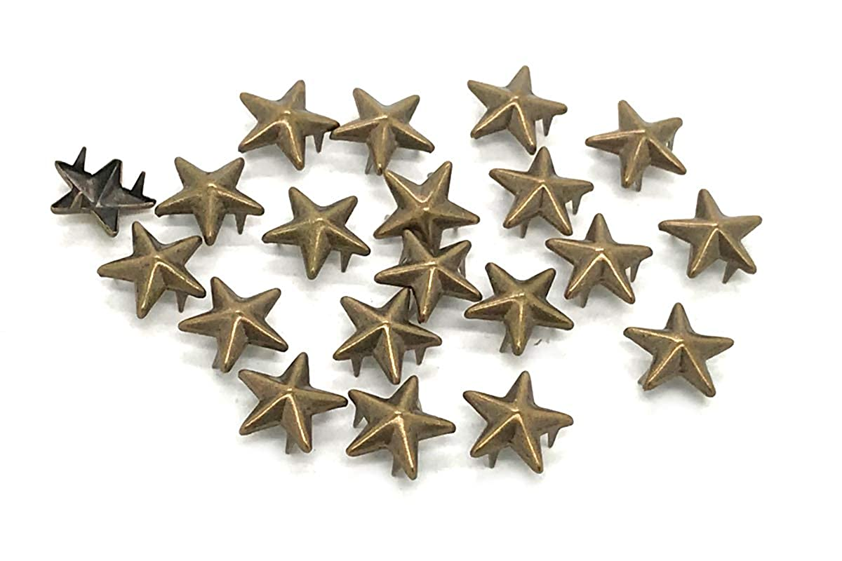 Bags 100 x EIMASS/® Antique Brass//Bronze 11mm Star Claw Studs Costumes Rivets with Spikes Prongs to Embellish Shoes Crafts DIY Belts Leather Items