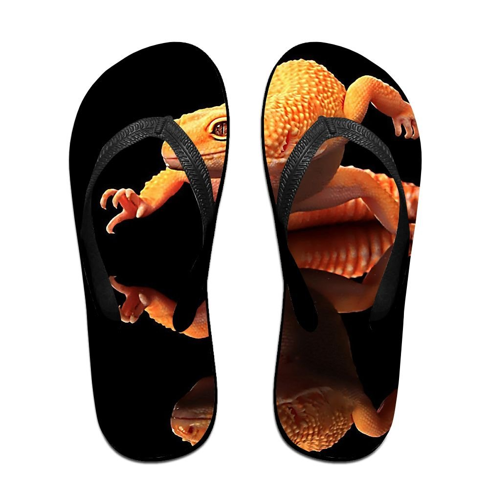 Couple Flip Flops Orange Frog Print Chic Sandals Slipper Rubber Non-Slip House Thong Slippers