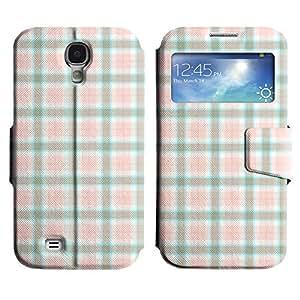 Be-Star Diseño Impreso Colorido Slim Casa Carcasa Funda Case PU Cuero - Stand Function para Samsung Galaxy S4 IV / i9500 / i9505 / i9505G / SGH-i337 ( Checkered Pattern )