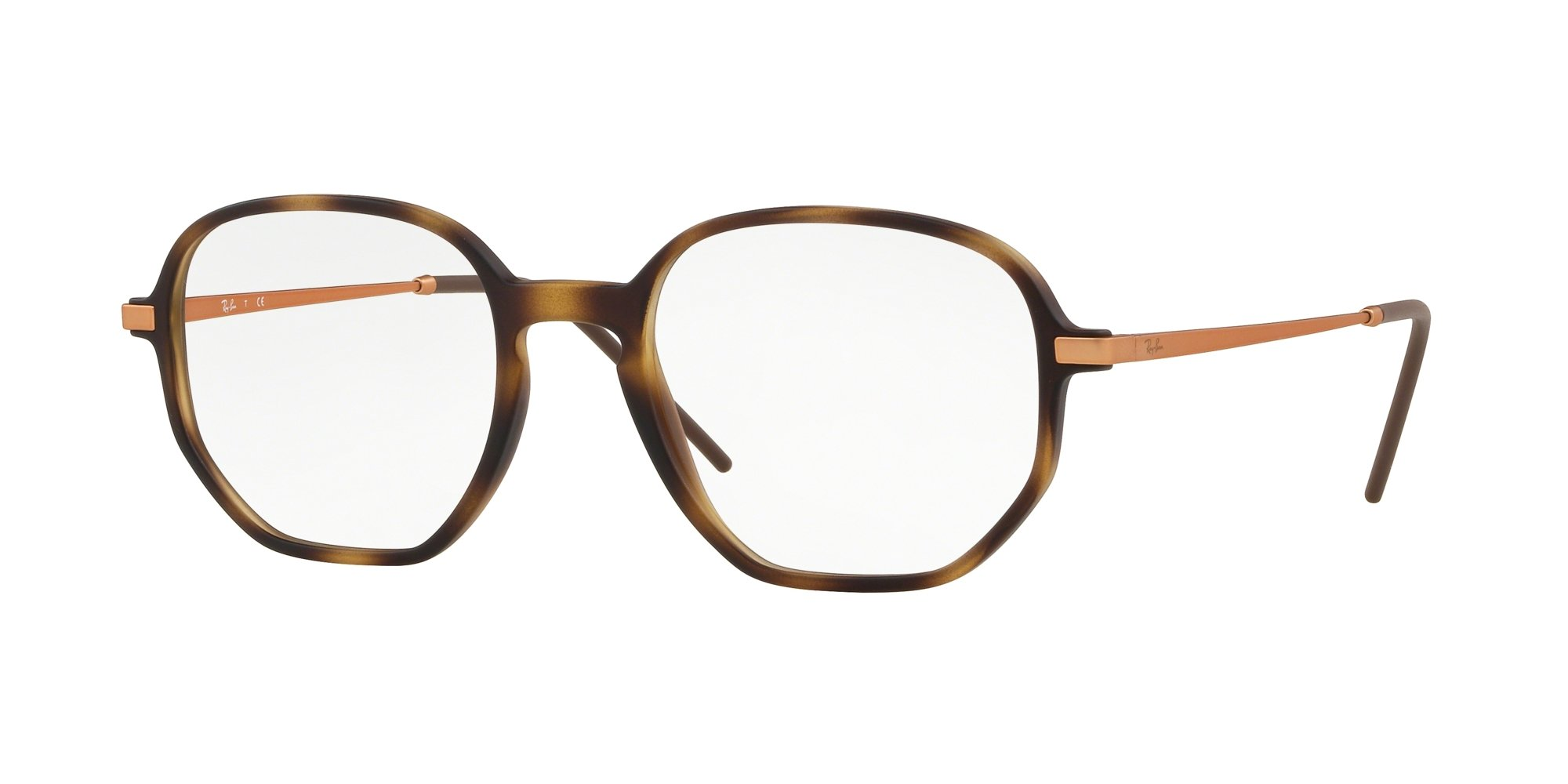 Ray-Ban Unisex RX7152 Eyeglasses Rubber Havana 52mm