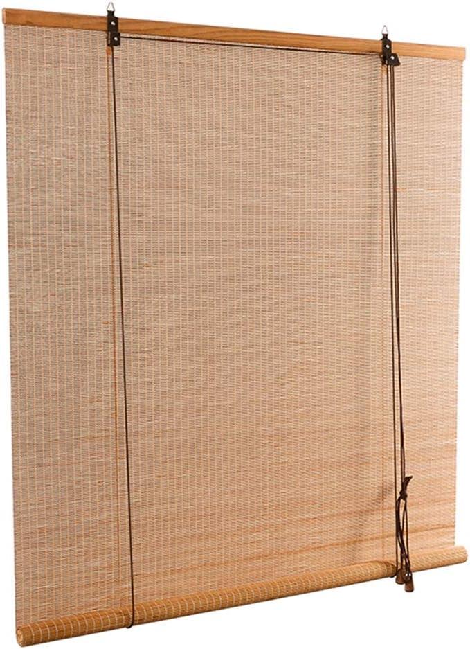 PENGFEI Estores De Bambú Persiana Enrollable Ventana Cortina Decoración De La Ventana Cortinas Opacas Prevenir Líneas Externas, Hecho A Mano, 2 Colores Tamaño Personalización: Amazon.es: Hogar