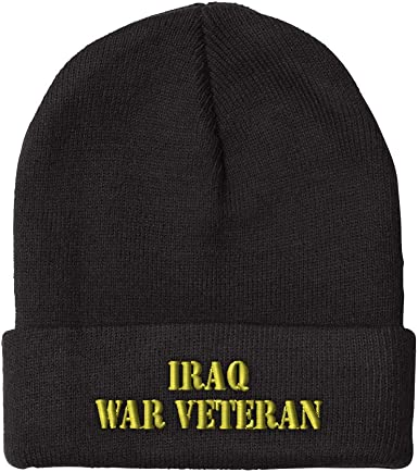 Iraq Flag Custom Personalized Embroidery Embroidered Beanie