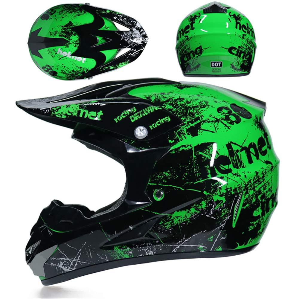 yaning Adult Offroad Helmet Goggles Gloves Gear Combo Purple Splatter
