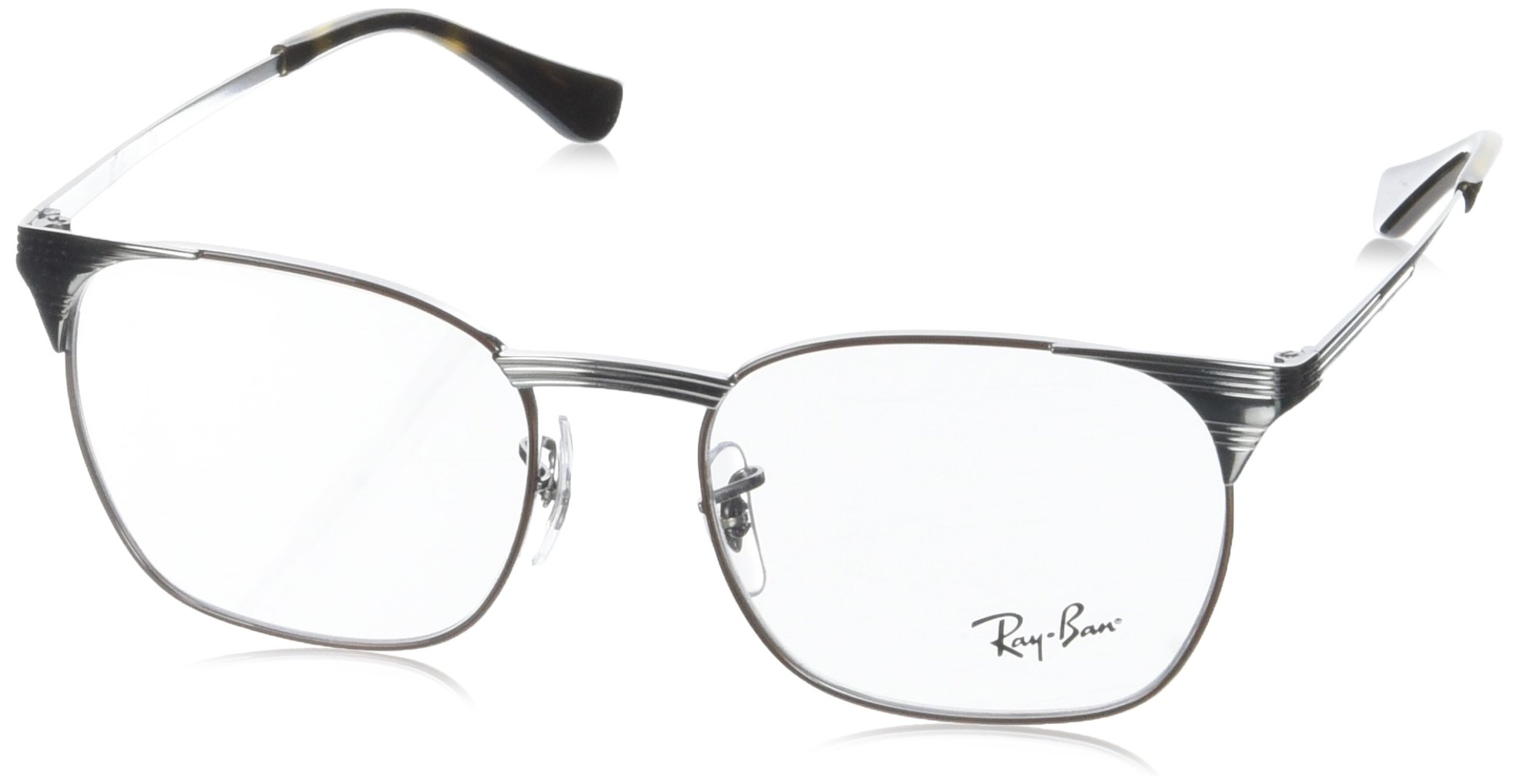 Ray-Ban Unisex 0RX6386 53mm Gunmetal/Brown One Size