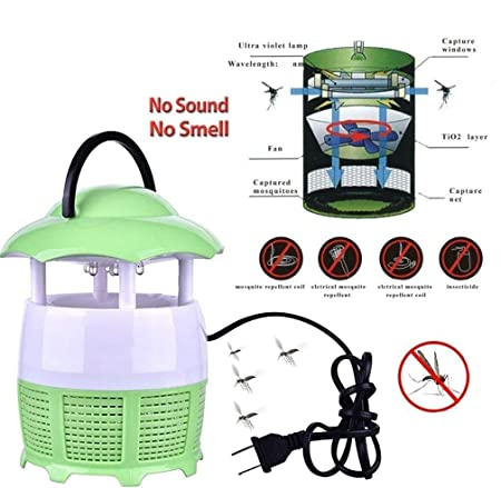 RB Mall Electronic Led Mosquito Killer Lamp Household Mosquito Trap Eco-Friendly Baby Mosquito Insect Repellent Lamp Photocatalyst (Colour May Vary)