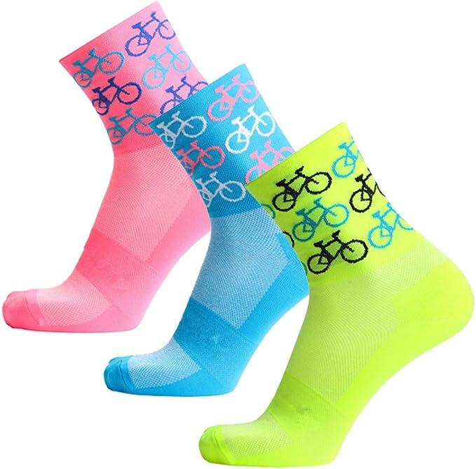1-4Pair Men Women Road Mountain Bike Outdoor Sports Socks Breath Cycling Socks *