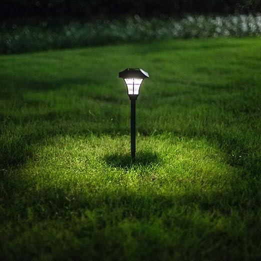 AIBAB Farola Solar Luz del Paisaje del Césped Adornos Decorativos De Exterior LED. Iluminación Impermeable: Amazon.es: Jardín