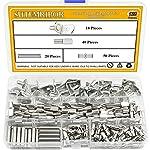 Sutemribor 128PCS Nickel Plated Shelf Bracket Pegs Cabinet Furniture Shelf Pins Support, 4 Styles