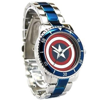 Amazon.com: Capitán América Shield Reloj con pulsera de ...
