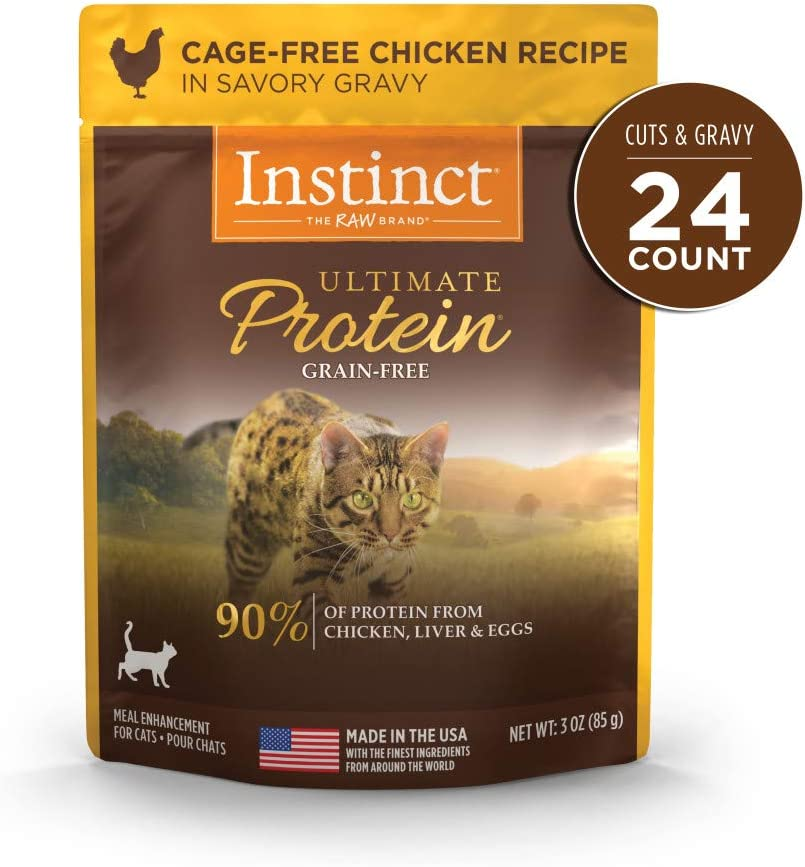 Instinct High Protein Cat Food Toppers, Ultimate Protein Grain Free Wet Cat Food Toppers