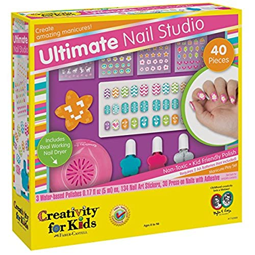 Nail design studio amazon creativity for kids ultimate nail studio manicure play set prinsesfo Image collections