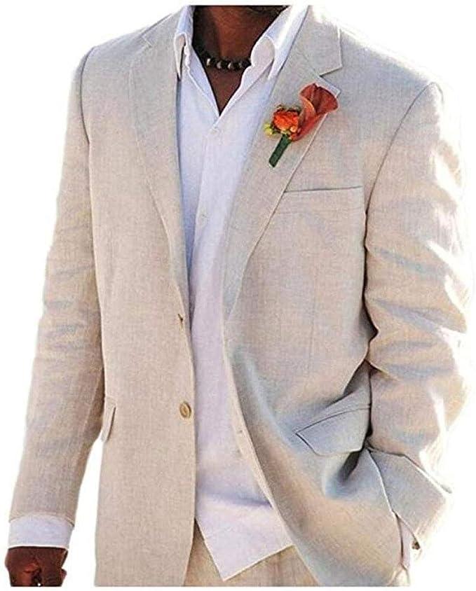 Amazon.com: Trajes de boda de verano de marfil para la playa ...