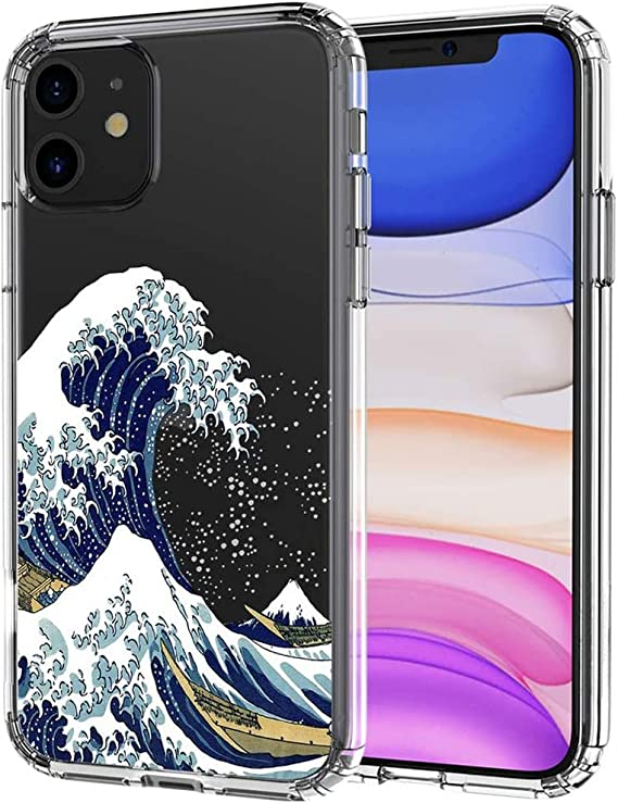 Amazon Com Tofd Wave Case For Iphone 11 Case Cute Aesthetic Shockproof Crystal Clear Cases Great Wave Design Soft Tpu Bumper Protective Case Cover For Apple Iphone 11 6 1 2019 Release