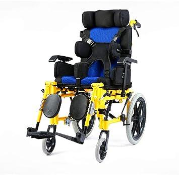 Amazon.com: Silla de ruedas ligera y plegable para niños ...