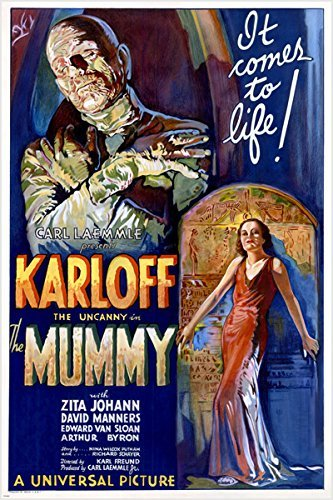 BORIS KARLOFF the mummy MOVIE POSTER 1932 campy classic horror 24X36 SCARY (reproduction, not an original) (Horror Classics Poster)
