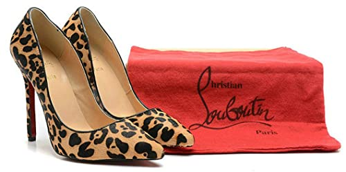 0e34dd1d73bc Christian Louboutin CL Decollete 554 100 120Mm Pantherine Donna Pumps Scarpa  con Tacco Alto
