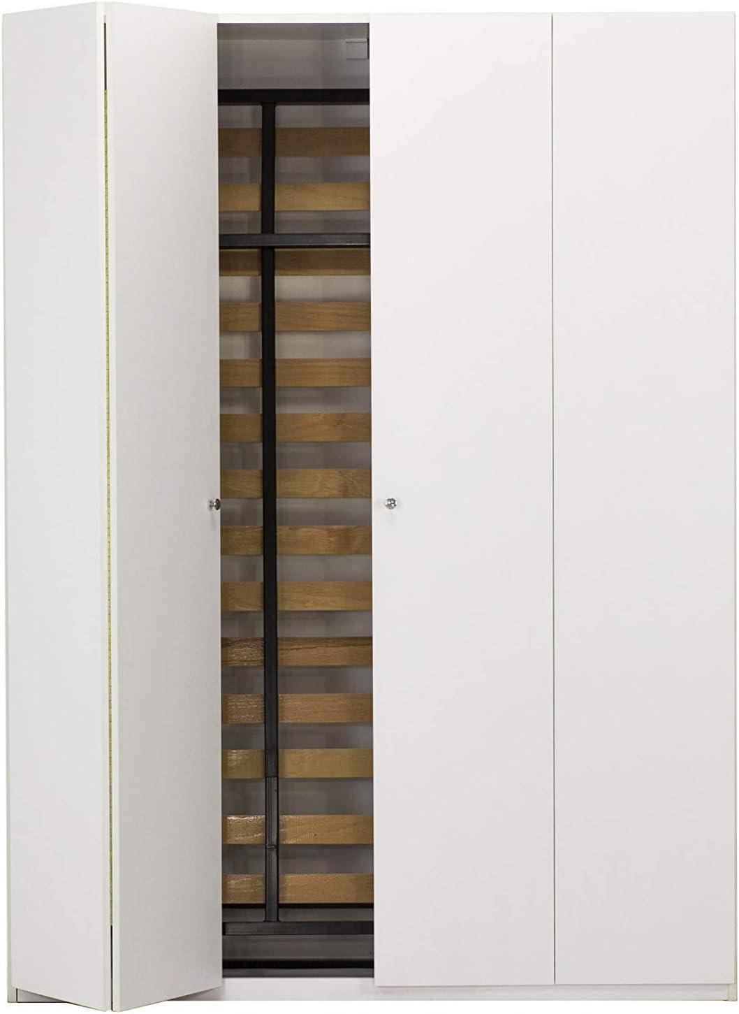 WallBedKing - Cama de pared tamaño king en armario blanco (cama ...