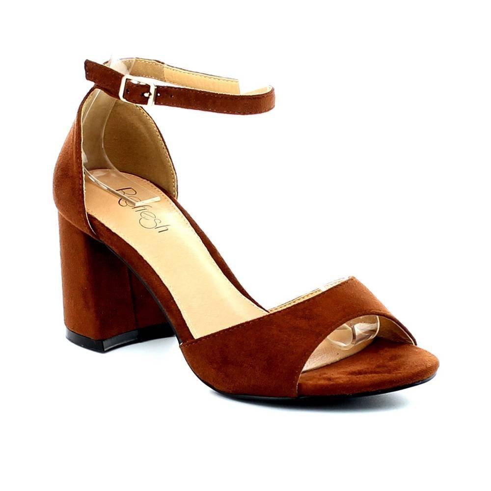 9b010504472 WEST COAST Westcoast Barika Women's Single Band Open Toe Chunky High Heel  Ankle Strap Dress Sandals