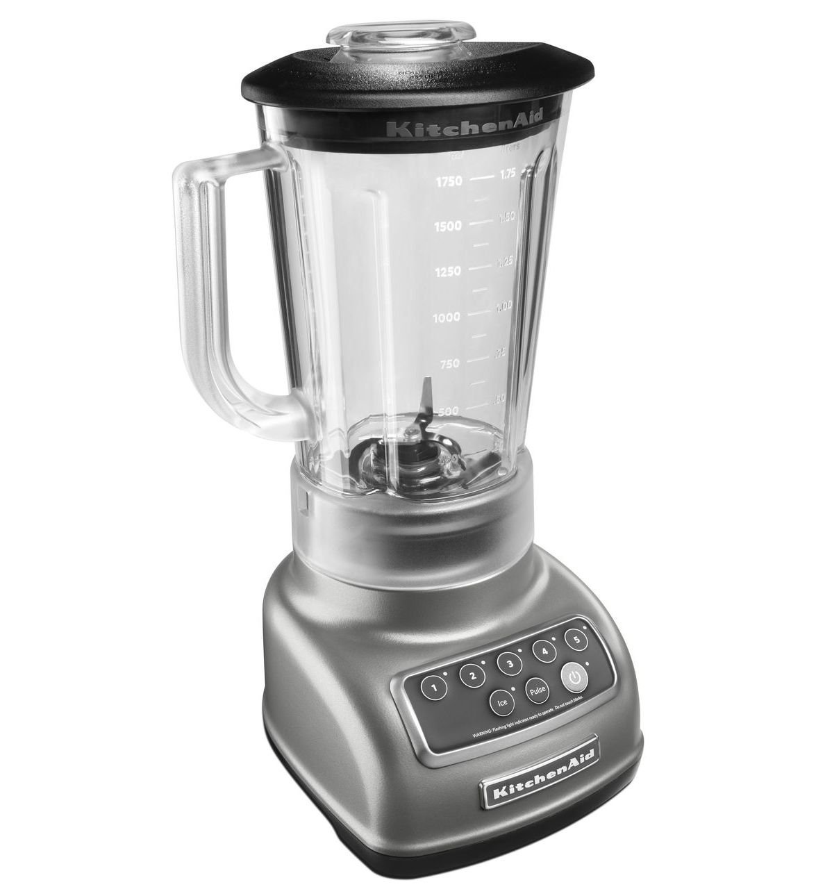 KitchenAid RKSB1570CU 5-Speed Blender with 56-Ounce BPA-Free Pitcher - Silver (Certified Refurbished)