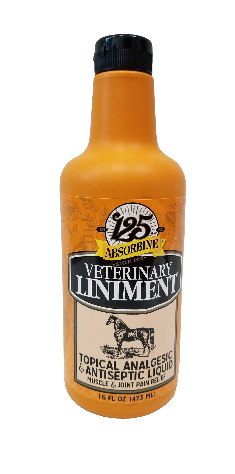 Absorbine Veterinary 16 oz Liniment Liquid Topical Analgesic Sore Muscle and Joint Pain Relief by Absorbine
