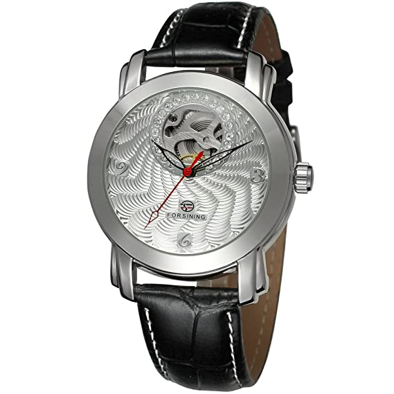 Amazon.com: Forsining Mens Skeleton Automatic Mechanical Wrist Watch FSG009M3S1: Watches