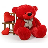 TEDSTREE 3 FEET RED Teddy Bear with Two Heart Pillow Soft and Sweet Beautiful Hug ABLE Teddy Bear