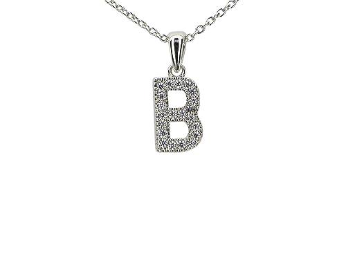 Amazon jewels fashion hypo allergenic fine cubic zirconia jewels fashion hypo allergenic fine cubic zirconia initial pendant necklace b aloadofball Choice Image
