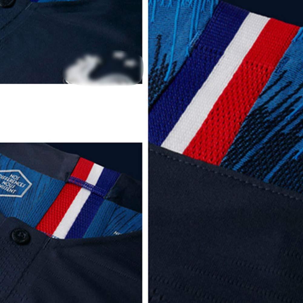 LSY Maillots De Football Enfant Sport Gar/çon L/équipe France Soccer Jersey 2018 Coupe du Monde France 2 /Étoiles Football T-Shirt Et Short,BlueN/°10,XS