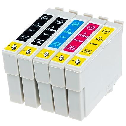 AfiD - Juego de 4 cartuchos de impresora para Epson T0711 - T0714 ...