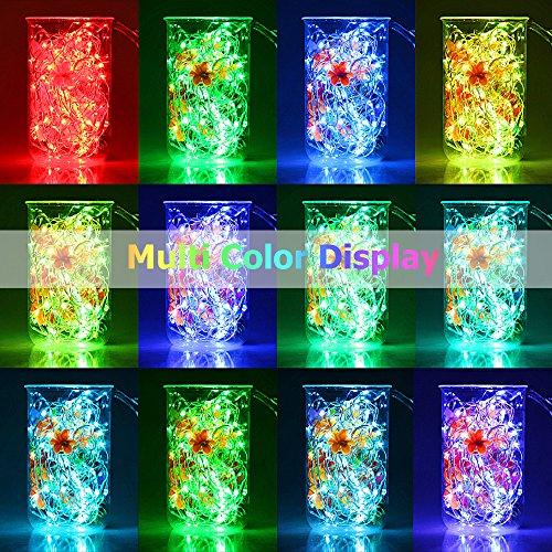 Gdealer 2 Pack Rgb Multi Color Change String Lights Fairy