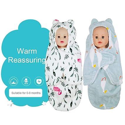 Saco de Dormir para bebé recién Nacido otoño e Invierno de Franela Gruesa Envuelta, Manta