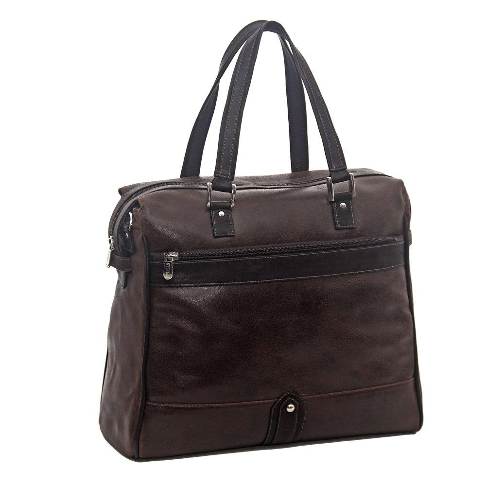 Piel Leather Vintage Travel Tote, Vintage Brown, One Size