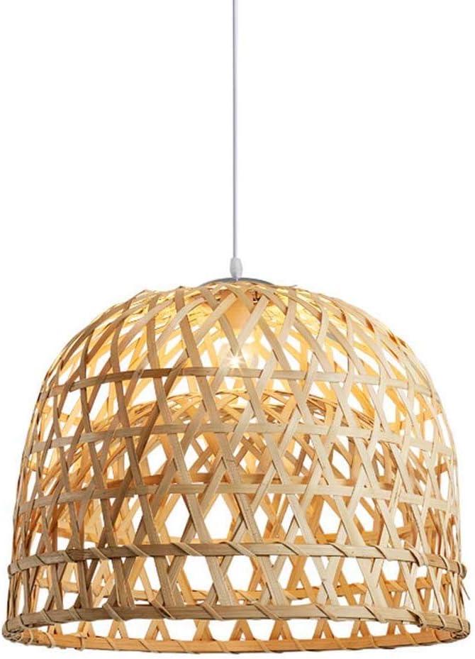 SkyTalent Woven Bamboo Pendant Light, Natural Simple Hand Weaved Pendant Light, Creative Farmhouse Hanging lamp Rattan Chandelier Pendant Light for Dining Room Bedroom