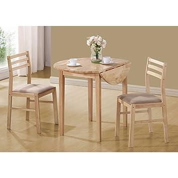 Monarch Specialties Piece Dining Set With Inch Diameter Drop - 36 diameter dining table