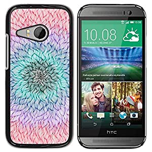 Be Good Phone Accessory // Dura Cáscara cubierta Protectora Caso Carcasa Funda de Protección para HTC ONE MINI 2 / M8 MINI // Flower Petal Teal Purple Peach Summer