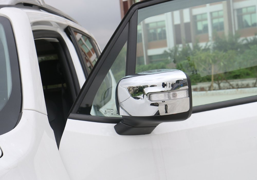 Orange ABS Rearview Side Mirror Cover Trim Frame Sticker For Jeep Renegade 2015 2016