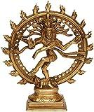 Exotic India Brass Nataraja Statue (6.5 inch X 5.5 inch X 1.5 inch)