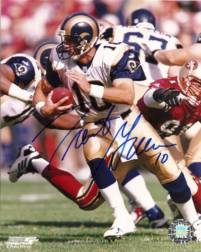 - Trent Green, St Louis Rams, Signed, Autographed, 8x10, Photo, Coa, Rare Hard Photo to Find