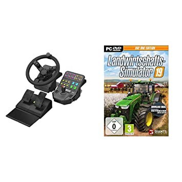 Logitech G Saitek Farm Sim Lenkrad Pedale Und Amazonde Computer