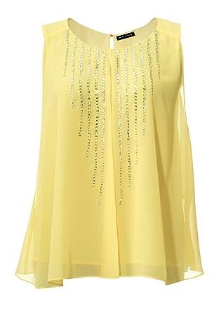 8ca7de86a48b Ashley Brooke Designer-Blusentop mit Pailletten vanille Größe 44 ...
