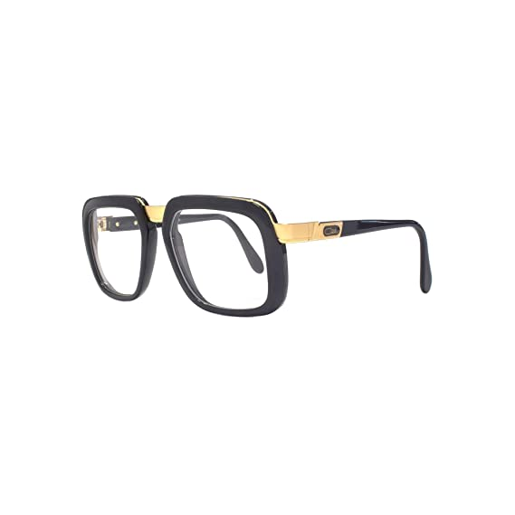 6309c5214e1 Cazal 616 Glasses in Shiny Black Gold 616 001 56 56 Clear Black  Amazon.co. uk  Clothing