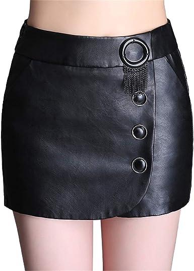 Skitor Negocios Push Up Skirt Cuero Lápiz Falda Mujer Elegante ...
