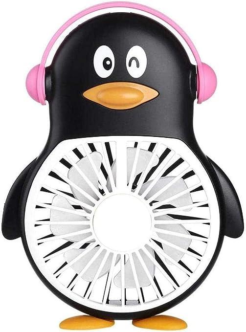 ewrwrwr 2020 Nuevo Ventilador Ventilador de Mano Carga USB Ventilador de pingüino Mini Estudiante al Aire Libre Traiga Bolsillo portátil Ventiladores pequeños Ventilador portátil -A-A-si: Amazon.es: Hogar