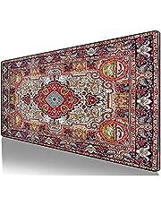 Stor persisk matta musmatta spelmusmatta dator tangentbord musmatta skrivbordsmatta med halkfri bas och sydd kant för hemmakontor spelarbete