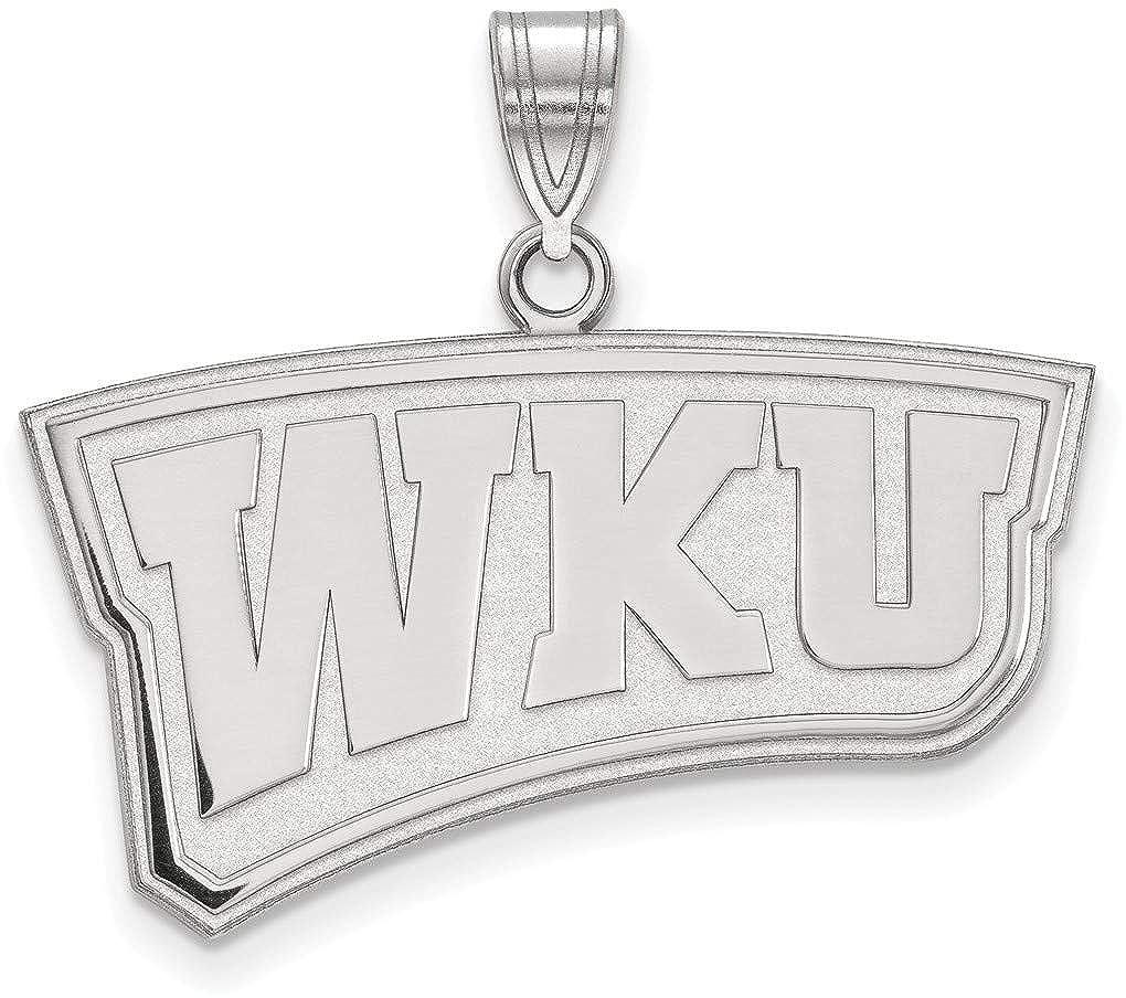 Sterling Silver Western Kentucky University Large Pendant by LogoArt SS022WKU