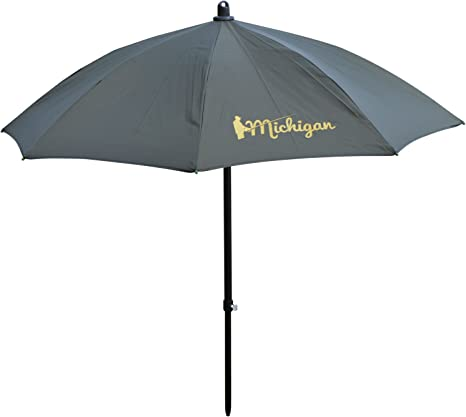 "75/"" Olive Top Tilting Fishing Umbrella//Brolly Shelter With Zip On Sides"