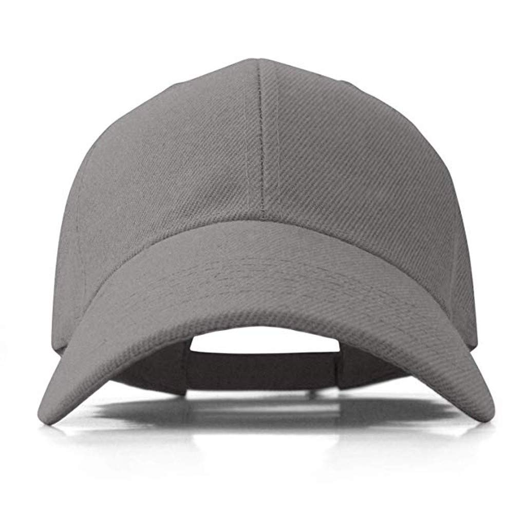SSUPLYMY 2PC Men Casual Outdoor Solid Color Sport Hat Baseball Cap for Men Solid Color Hat Leisure Sun Hat Baseball Cap Hat Outdoor Creative Hat